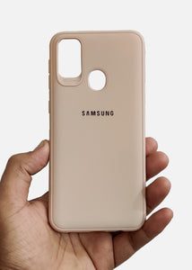 Peach Ultrasoft Silicone Case For Samsung M21