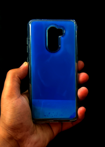 Dark Blue Glow In the Dark Silicone Case For Poco F1