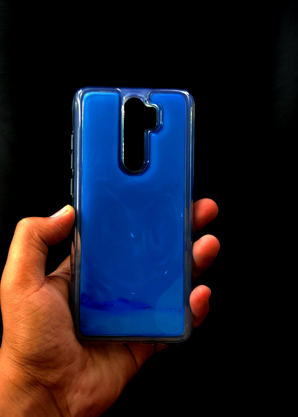 Blue Glow In the Dark Silicone Case For Redmi Note 8 Pro