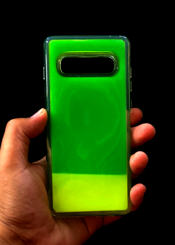 Green Glow In the Dark Silcione Case For Samsung S10 Plus