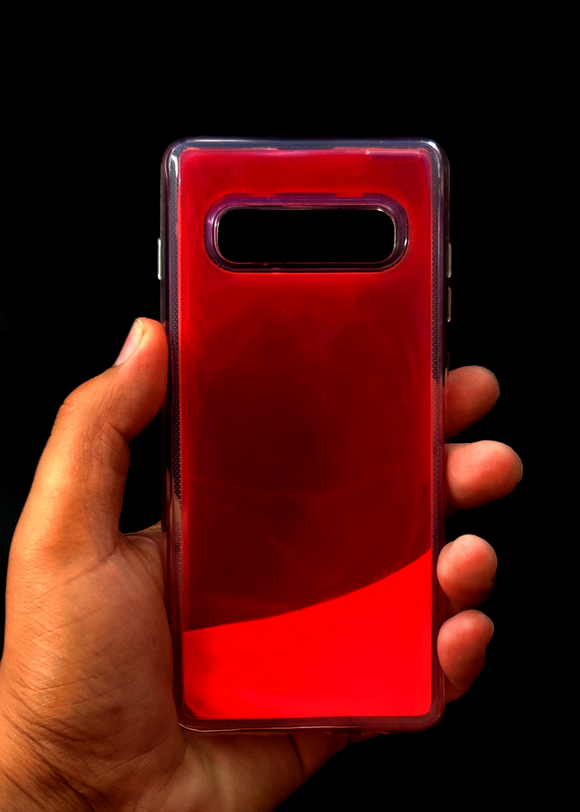 Pink Glow In the Dark Silicone Case For Samsung S10 Plus