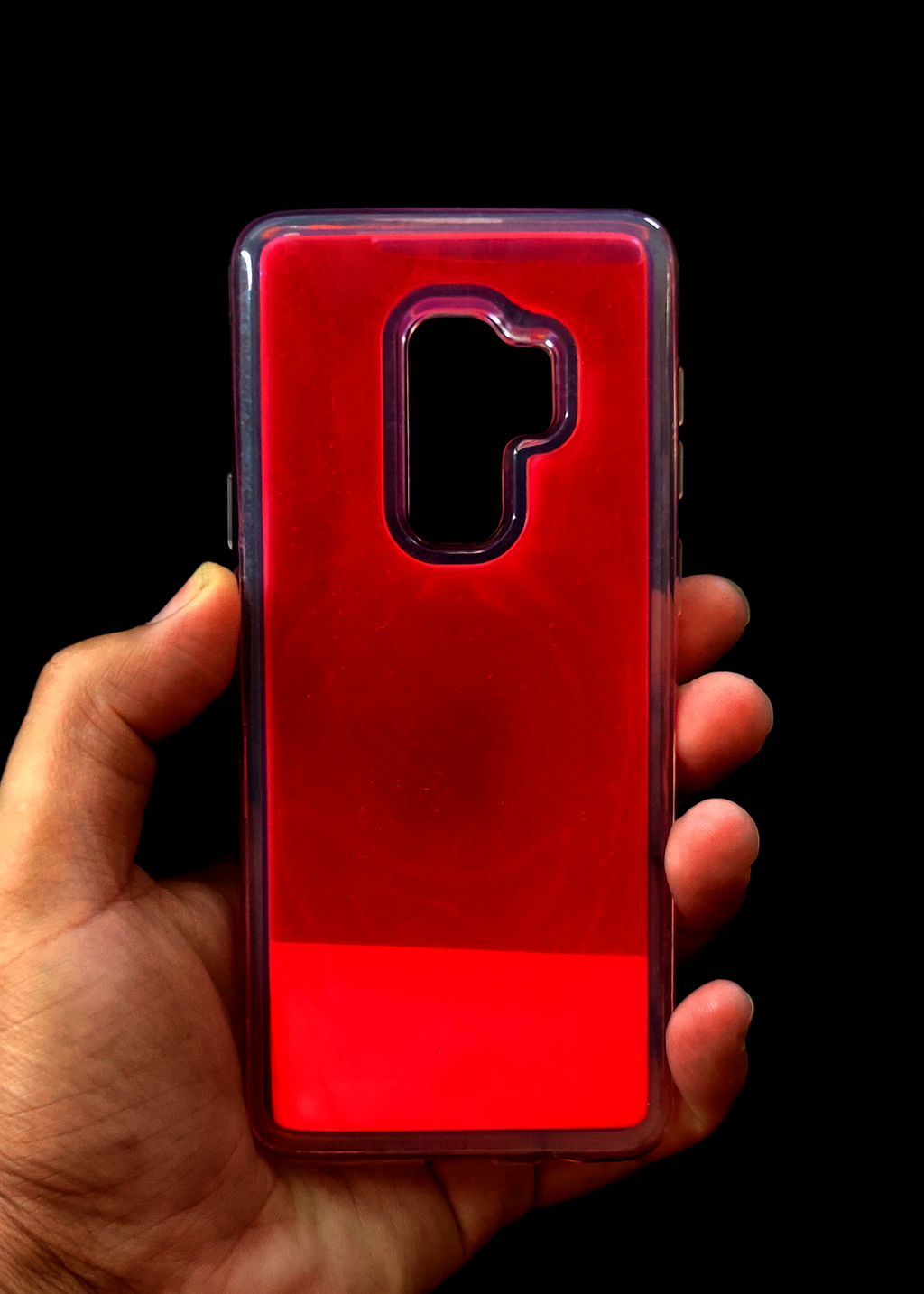 Pink Glow In the Dark Case For Samsung S9 Plus