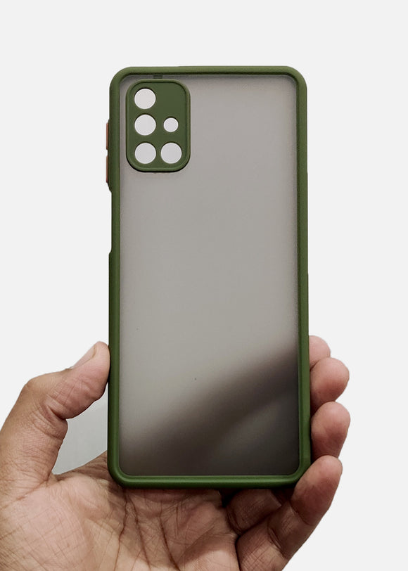 Green Camera Protection Smoke Case For Samsung M51