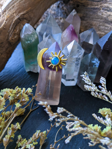 Flora | Opal Adjustable Ring