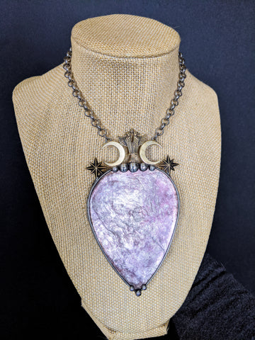 Greta | Lepidolite Necklace