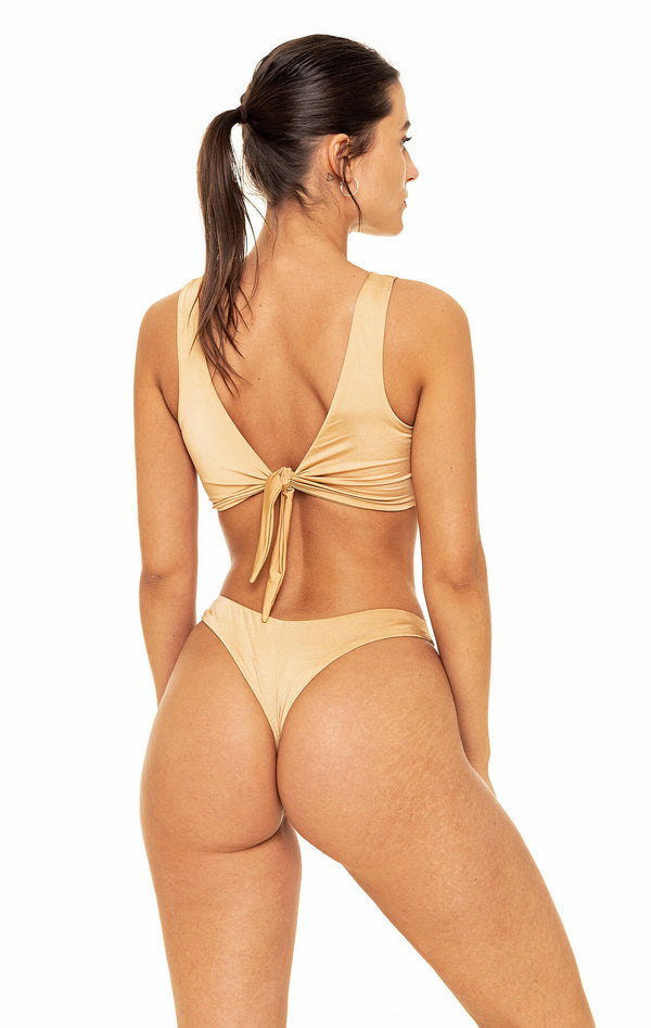 Thong Bottom (Shiny Gold)