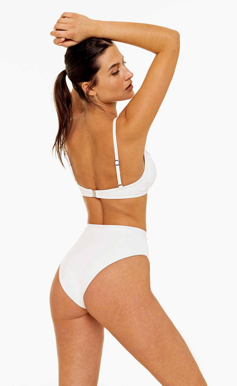 High Waisted Bottom (White)