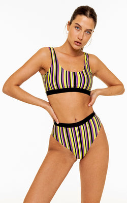 High Waisted Bottom (Striped)