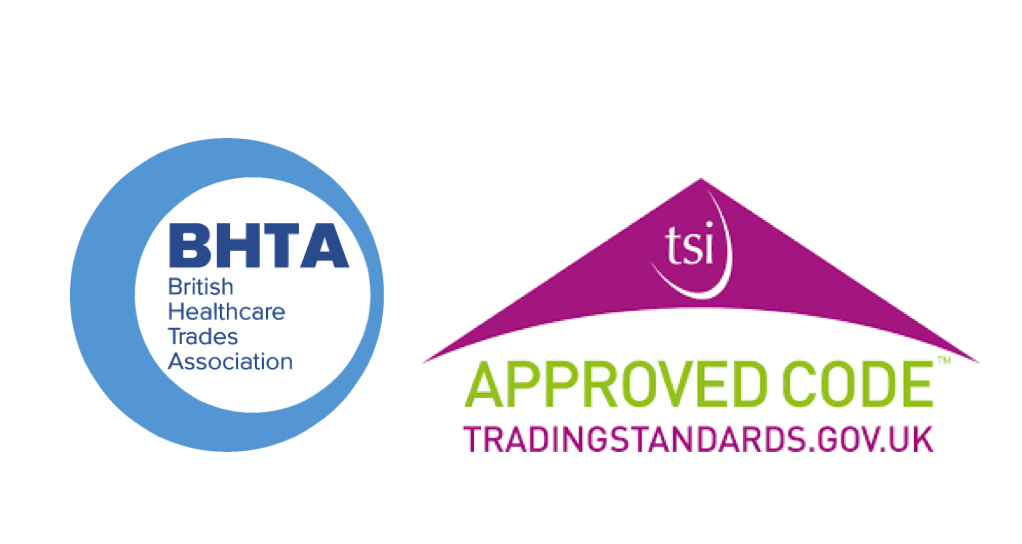 British Healthcare Trades Association and Trading Standards Approved Logo