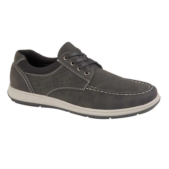 Mens Black Ainsdale Lace Up Casual Shoe