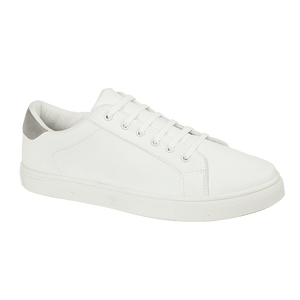 Mens White Amsterdam Lace Up Trainer