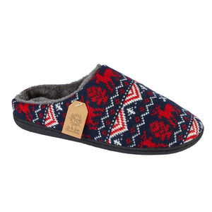 Men's 'Blitzen' Navy/Red Slipper Mule