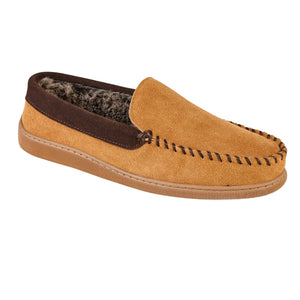 Men's 'Coniston' Cognac Moccasin Slipper