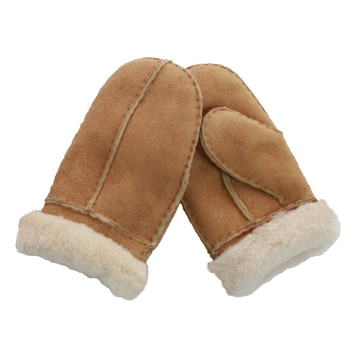 Junior Child's Sheepskin Mitten - Chestnut