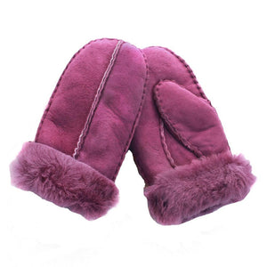 Junior Child's Sheepskin Mitten - Purple