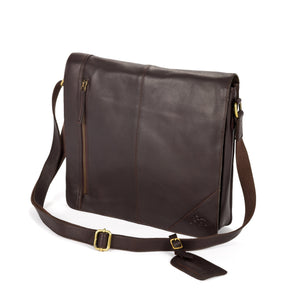 Men's Russell Leather Messenger Bag