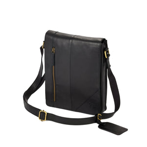Men's Darius Leather Messenger Bag