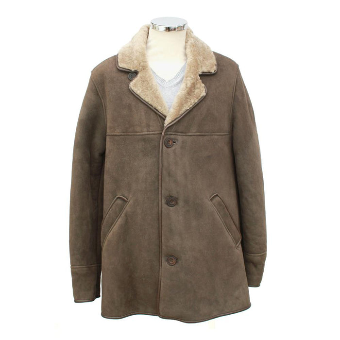 Mens Edward Suede Sheepskin Jacket - Vizon