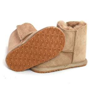 Children's Sheepskin Slipper Boot- Camel