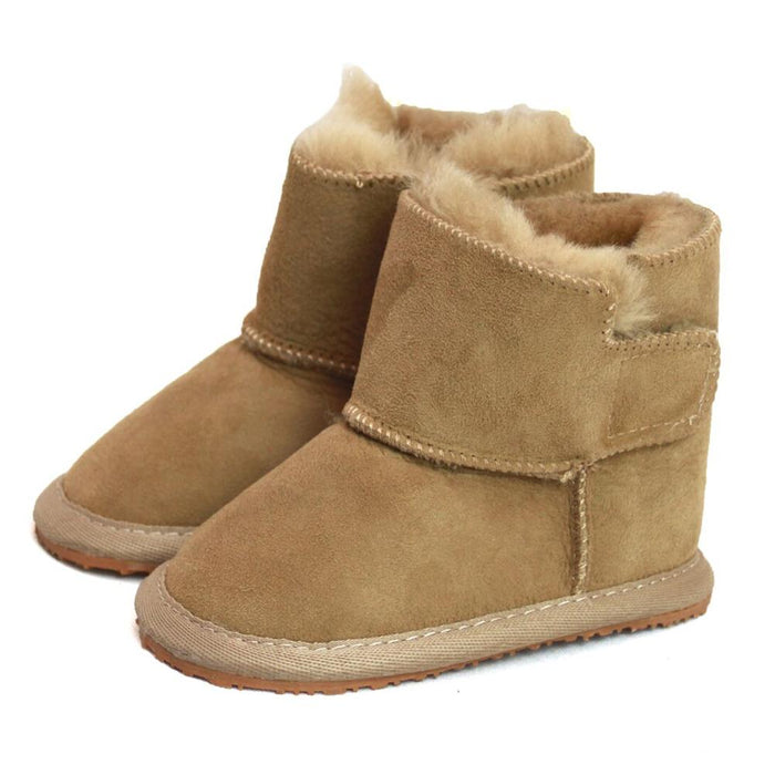 Children's Sheepskin Slipper Boot- Mink