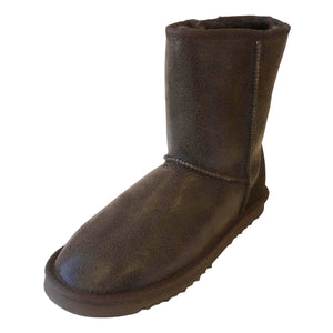 Mens Deluxe Jake Sheepskin Boots - Brown