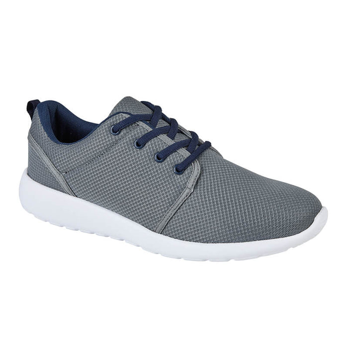 Mens Grey Impact Lace Up Trainer
