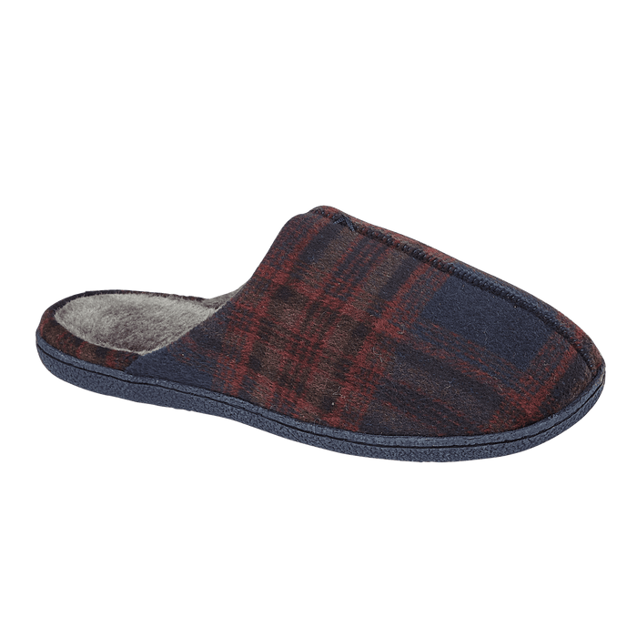 Men's 'Oban' Navy Tartan Slipper Mule