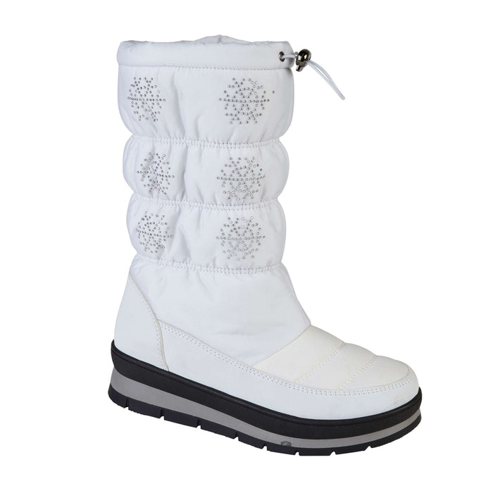 Ladies Verbier Fur Lined Snow Boots - White