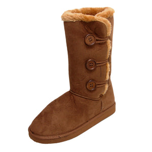 Ladies Indiana Faux Fur Lined Boots - Chestnut