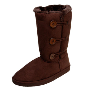 Ladies Indiana Faux Fur Lined Boots - Chocolate