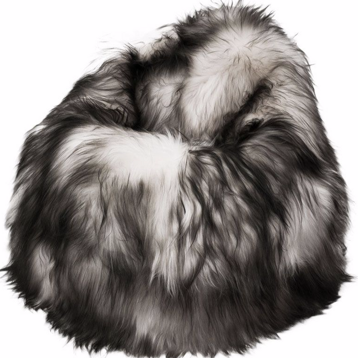 Adult Sheepskin Bean Bag | Icelandic | Dark Tipped