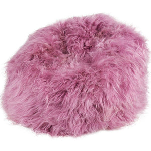 Adult Sheepskin Bean Bag | Icelandic | Pink
