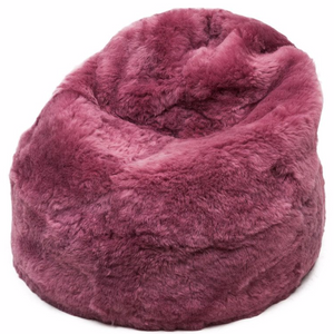 Adult Sheepskin Bean Bag | Icelandic | Pink Shorn