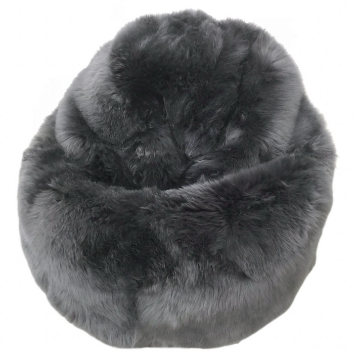 Adult Sheepskin Bean Bag | Swedish | Dark Grey