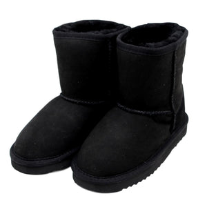 Children's Sheepskin Boot - Black