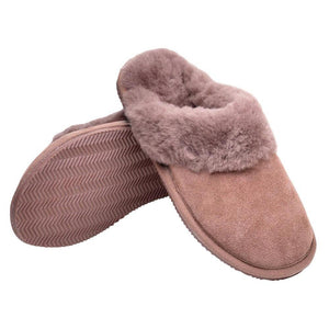 Deluxe Ladies 'Emma' Sheepskin Slipper Mule - Mink