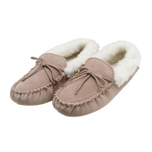 Deluxe Ladies 'Sophie' Sheepskin Moccasin with Soft Sole