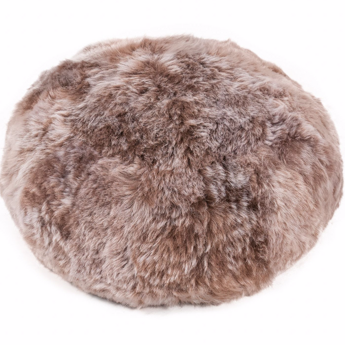 Icelandic Sheepskin Floor Cushion - Taupe Shorn