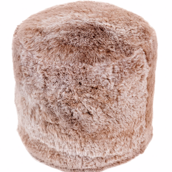 Icelandic Sheepskin Stump Pouf - Rusty Brown Shorn