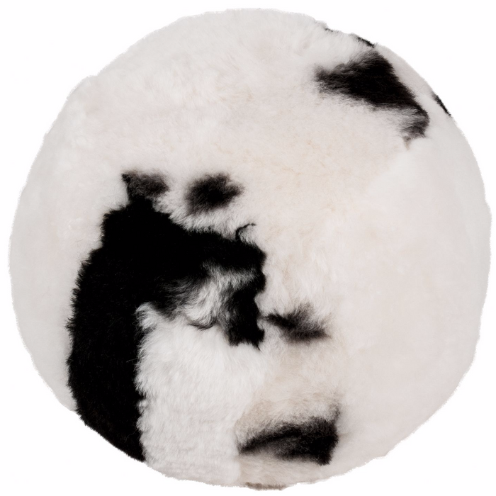 Icelandic Shorn Sheepskin Ottoman - Natural Spotted