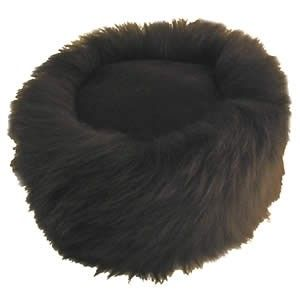 Ladies Black Cossack Style Sheepskin Hat - Kate