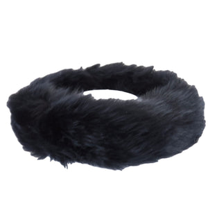 Ladies Black Sheepskin Headband - Fergie