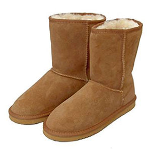 Deluxe Ladies Jodie Sheepskin Boots - Chestnut