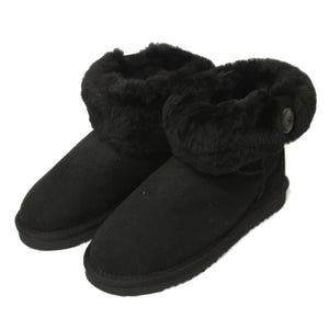 Ladies Freya Turn Down Sheepskin Boots - Black