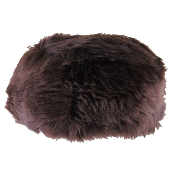 Ladies Brown Full Sheepskin Hat - Diana
