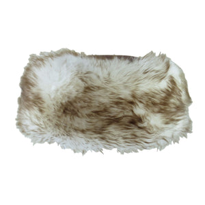Ladies Brown/Natural Tipped Cossack Style Sheepskin Hat - Kate