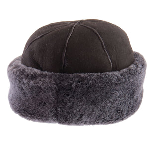 Ladies Brown Panel Dome Sheepskin Hat - Duxford