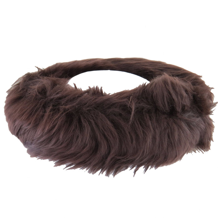 Ladies Brown Sheepskin Headband - Fergie