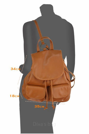 Ladies Cindy Italian Leather Backpack