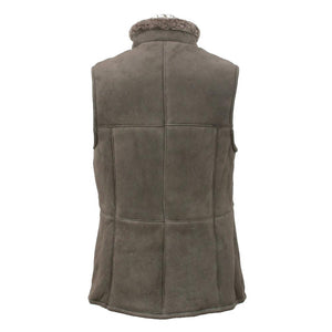 Ladies Gilet Leather Sheepskin Coat - Vizon
